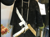 2015新款皮草外套羊毛女装大衣冬美利奴羊剪绒皮毛一体中长款皮草
