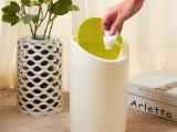 批发新款炫彩圆柱翻盖垃圾桶厨房卫生间卧室家用有盖垃圾筒卫生桶