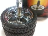 750【易来创意行】汽车轮胎烟灰缸款式按压旋转密封烟灰缸