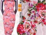 人棉面料 活性印花 裙面料 人造棉布 服装 布料 布匹批发 CF