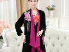 2015秋新款中老年女装长袖两件套连衣裙大码妈妈装中年金丝绒裙子