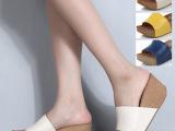 厂家2014夏款正品防水台坡跟女拖鞋真皮厚底松糕女凉拖一件代发