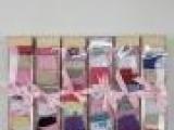 出口外贸 0-6月婴儿袜 新生宝宝 棉袜子 7双礼品盒 女装