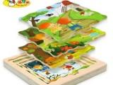 幼得乐 四季拼图儿童益智木制拼板拼图宝宝拼图玩具1-3岁