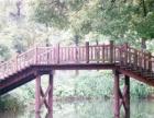 专业制作碳化木桌椅、茅草屋、木桥、踏步楼梯、秋千