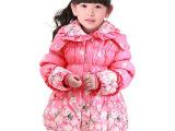 2014新款太阳雪人女童羽绒服 儿童冬装可爱玫瑰花冬季外套JA0