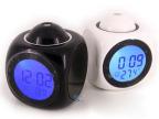 新新款多功能投影报时钟 LED七彩投影闹钟 语音报时钟 声控投影钟