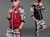童装2015秋季新款男童迷彩套装纯棉舒适童卫衣韩版休闲长袖两件套
