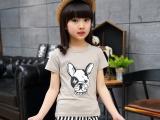 儿童t恤2018外贸新款夏季韩版纯棉圆领短袖t2块