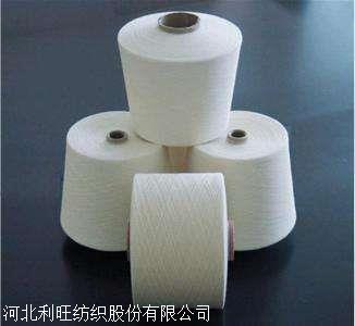 在机气流纺16支纯涤纱高强针织