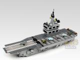 大型乐高式拼插益智组装积木玩具 启蒙类拼装玩具 航空母舰1013