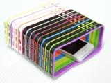 iPhone5/5s 硬胶+软胶信号圈,炫彩双色边框保护套手机壳