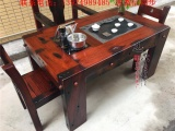 老船木茶桌椅组合 船木茶桌中式功夫茶几泡茶台阳台小型实木家具