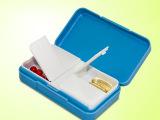 金隆兴R8301四格迷你小药盒便携时尚药盒创意随身蓝白色