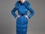 反季包邮2013羽绒服女新款加厚中长款修身貉子领鹅绒羽绒服129