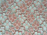 2015年最新多色水溶绣花面料 100%涤纶 4色 6色 9色水