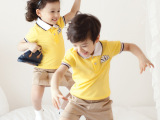 儿童小学校服幼儿园服六一演出服夏季短袖运动服套装纯棉韩版英伦