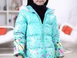 巴拉巴拉爱觅丽童装2013秋冬新款6-12岁女孩中长款羽绒服M1