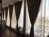 丰台科技园窗帘定做 遮光卷帘定做 铝合金百叶窗订做