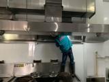 上海专业清洗酒店单位食堂油烟机 油烟净化器清洗