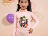 印花手工订珠毛衣 时尚女童针织衫 厂家直销2015秋季新款儿童上