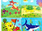 木质早教益智拼图拼版木制9片宝宝婴幼儿童玩具厂家批发01-2-3岁
