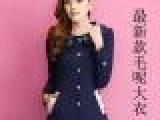 厂家批发2013秋季新款女装呢子韩版品牌呢外套中长款羊绒毛呢大衣