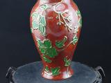 纳米铸金纯手工雕刻茱萸花瓶 精美摆件纯手工花瓶批发