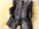 外贸专区 欧美短款设计女性仿真皮草背心外套