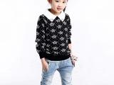 爱可宠童装春装 2014新款女童毛衣 韩版儿童针织衫 中大童毛线