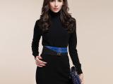 【山羊绒】14淑女新款纯色高领中长款包臀羊绒裙批发零售羊绒毛衣