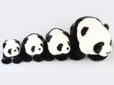 批发短毛绒熊猫玩具 毛绒卡通玩具 熊猫母子玩具公仔绒玩具小号