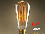 爱迪生E27螺口ST64白炽灯光源老式电灯泡钨丝灯泡装饰照明11