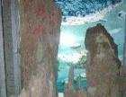 天然红石假山