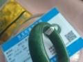 个人全新和田碧玉手镯低价转让 带证书 高档包装盒