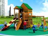 儿童组合滑梯厂家 幼儿园木质树屋滑梯 钻洞网笼攀爬架设施