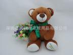 新年礼物毛绒公仔熊 40CM大号毛绒玩具熊 带领结熊 不脱毛泰迪熊