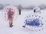 冬季户外成人碰碰球雪地公园趣味碰撞球多人广场充气对战球
