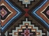 波西米亚民族风格大菱形方块色织提花箱包布,靠垫布