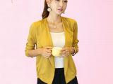 2014秋装新款韩国大东门百搭开衫小披肩雪纺女短外套长袖外套