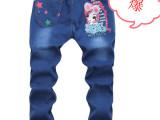 秋季中大童牛仔长裤 儿童牛仔裤低价促销 童装厂家直批