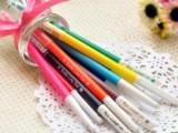 创意韩版文具 带钻彩色水笔 糖果色清新中性笔 粉彩笔