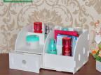 创意 桌面化妆品收纳盒浴室防水收纳架 桌上带抽屉置物架