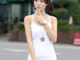 批发2014夏季新款女装韩版时尚修身吊带打底衫纯色U型工字小背心