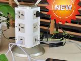 工厂直销/一件代发/立体立式插座带USB充电排插智能无线WiFi