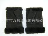 真毛革一体半指手套澳洲绵羊皮工厂直销优质