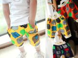 童裤 2014夏装新款韩版宝宝儿童小童男女童装卡通哈伦裤五分中裤