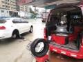 郑州商都汽车搭电,商都路补胎换备胎轮胎充气,商都路送汽油!