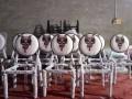学生员工食堂餐桌,天津防火板连体餐桌,曲木餐桌椅