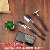 优质园艺铝镁合金铲耙锄三件套装种菜养花锹园林花卉盆栽工具